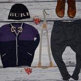 Обалденный фирменный стильный и эффектный свитер джемпер мальчику 12 - 18 месяцев