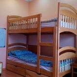 Двухэтажная кровать с матрасами и с ящиками Акция