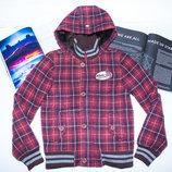 Куртка-Пальто клетка magor leacue 10-11 140-146