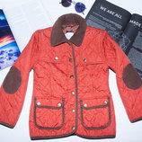 Куртка оранжевая стеганая Jjeans 7-8 122-128