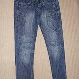 Толстые мягкие х/б узкие фирменные джинсы «883 police» Италия 30/30