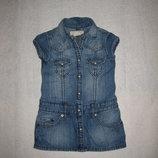 1,5-3 года, крутое джинсовое платье на кнопочках
