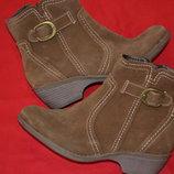 шикарные деми ботиночки из натуральной замши Footglove