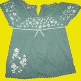 Нарядная блузка с вышивками на 6-8 лет,Monsoon