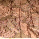 платок Hanae Mori шелк принт Тихий вечер 88Х88 Hermes Chanel косынка