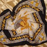 костюмный платок Longines Golden Wing оригинал шелк 36Х38 см