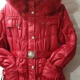 Детская куртка на силиконе для девочки 6-10 лет