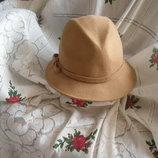 Супер шляпа linea коричневая,100%шерсть,италия,56-57см.