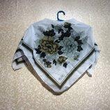 Шарф платок HALE длина 80х 80 см летний, нарядная косынка