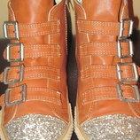 Кеды ботинки Next I love next кож.зам. демисезон 33 размер стелька 20,5 см
