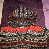 Кофточка свитерок капюшонка