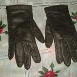 Супер перчатки коричневого цвета,р.м novakid ,100%кожа