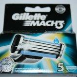 GILLETTE Mach3 упаковка 5 штук оригинал немецкие для продажи в Германии