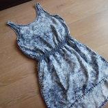 Платье девочке 10-11 лет рост 146 см H&M НМ легкое лето варенка