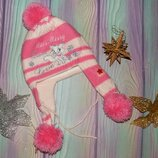 зимняя шапочка на флисе 5-8 лет