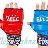 Перчатки для смешанных единоборств MMA Velo 4023 кожа, 2 цвета, S-XL