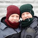 Комплект шапка хомут для мальчиков и девочек от 1 до 7 лет.Заказ каждый пн и чт