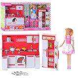Кукла на кухне DEFA 8085 2 вида, свет