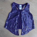 Безрукавка рост 116 см девочке Palomino Паломино оригинал фиолетовая блестки 95% вискоза