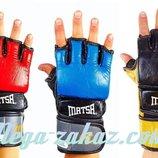 Перчатки для смешанных единоборств Matsa 2010 кожа, 3 цвета, M/L/XL
