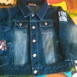 Джинсовый пиджак на мальчика, р. 98-104.