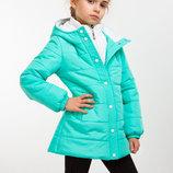 Демисезонная куртка на девочку мятного цвета