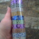 Декоративный скотч цветной блестящий для творчества труда для творчості праці открыток