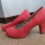 Туфли женские стелька 23,7 см 38 рр Tamaris оригинал розовые замша