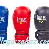 Перчатки боксерские на липучке Elast 5018, 3 цвета 8-12 унций кожвинил
