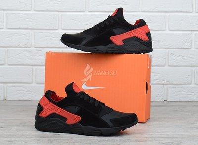 83c68f5e03d4 Кроссовки кожаные Nike Huarache мужские черные с красным 42 размер фирменная  упаковка Хуарачи