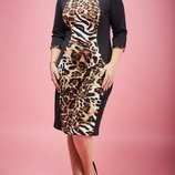 Платье с леопардовым принтом 52,54,56 размера