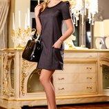 Свободное классическое платье 565