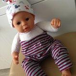 одежда 2-слойная шапочка с рисунком Микки Маусы для куклы Анабель, Шу-Шу, беби борна 38-45 см