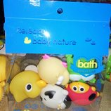 Набор брызгалки 5шт животные для ванной mzt8974