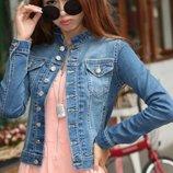 куртка женская джинсовая Хит демисезонная парка ветровка пиджак джинсовый