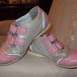 Туфли-Кроссовки кожаные р.33