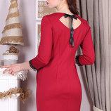 Вечернее платье для беременных и кормления, карминовое