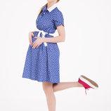 Джинсовое платье рубашка для беременных и кормящих мам