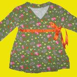 Яркое платье с совушками на 2-3 года
