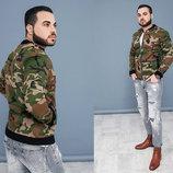 Стильная мужская куртка-бомбер М-20 Коттон Камуфляж в расцветках.