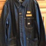 Удлиненный джинсовый пиджак на мужчики