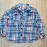 Теплая рубашка Crazy8 р.S 5-6