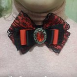 галстук-брошь красно-черный