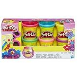 Play-Doh Набор пластилина из 6 баночек Блестящая серия Sparkle Compound Collection A5417