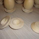 Деревянная подставка плоская для яйца
