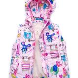Куртка-Жилет трансформер для девочки Animals розовая