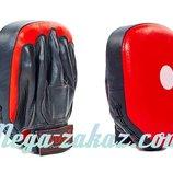 Лапа боксерская прямая Elast 0115, кожа 27х21х5см