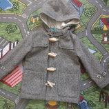 Фірмове пальто дафлкот 18-24 міс 86 см zara
