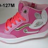 Яркие демисезонные ботиночки хайтопы для девочек