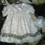 платье нарядное с сумочкой на 2-4года